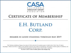 E.H. BUTLAND CORP is a Preferred Partner of the California Ambulatory Surgical Association
